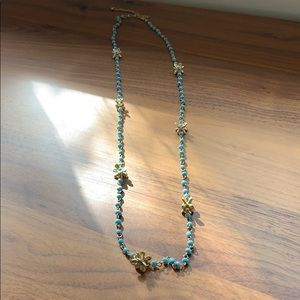 Impeciible Pig Turquoise Look Necklace w/f…